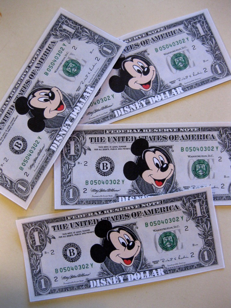 image regarding Disney Dollars Printable identified as disney money: small children make monetary for their disney holiday