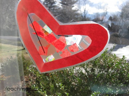 stained glass heart craft | teachmama.com