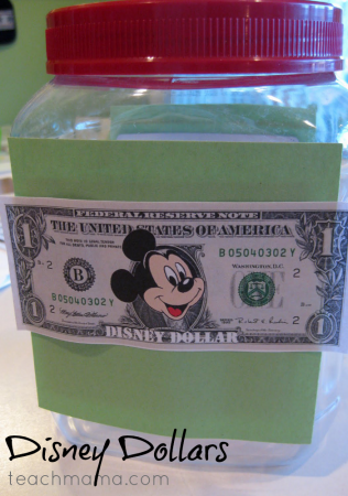disney dollars: kids earn 'money' for their disney trip