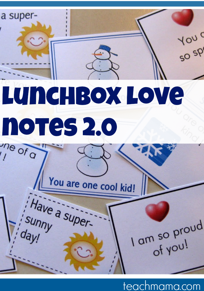 lunchbox love notes 2.0