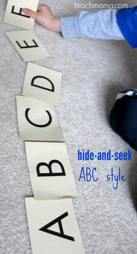 hide and seek abc teachmama.com
