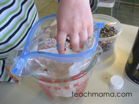 easy, homemade plastic bag icecream | teachmama.com