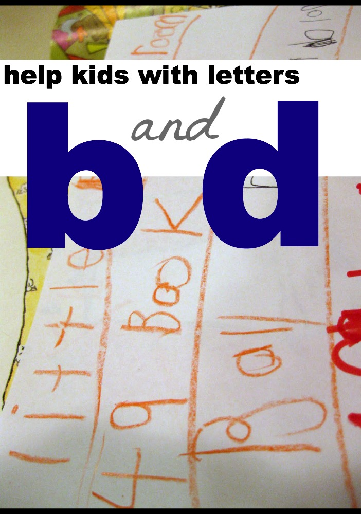 help kids with letters b and d