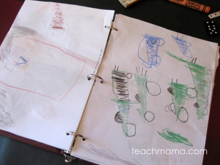 easy homemade art book  teachmama.com