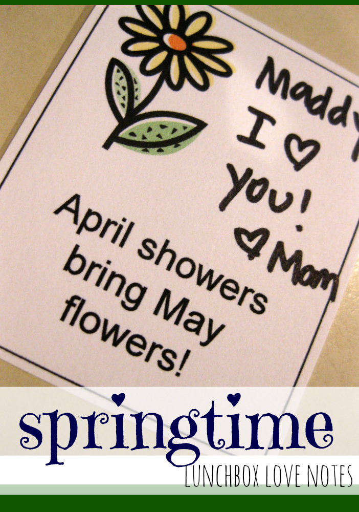 springtime lunchbox love notes
