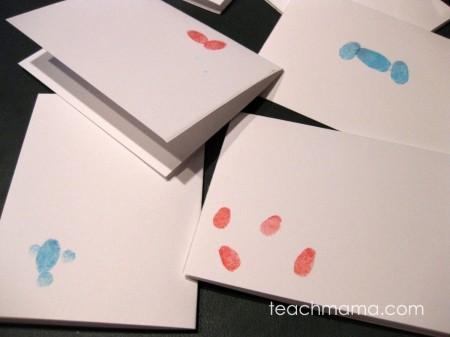 ingerprint note cards teachmama.com