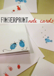 teacher appreciation--finger print note cards