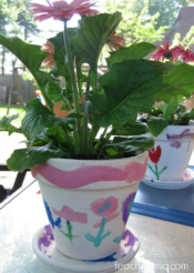 painting flower pots--simple and special gifts