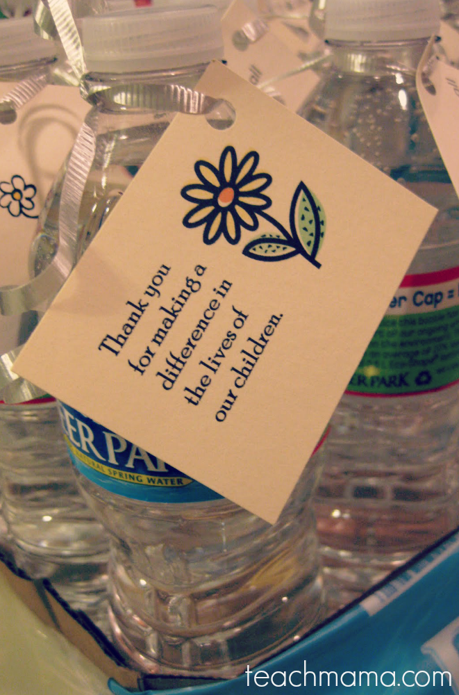 teacher appreciation week-water bottle notes
