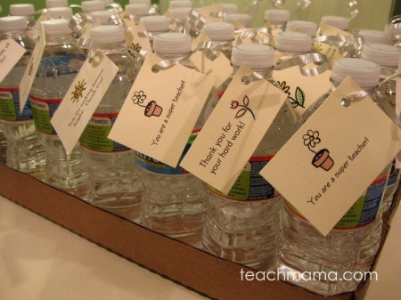 teacher appreciation water bottles | teachmama.com