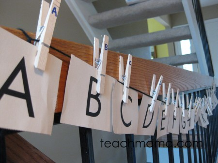 alphabet card clothespin letter match | teachmama.com