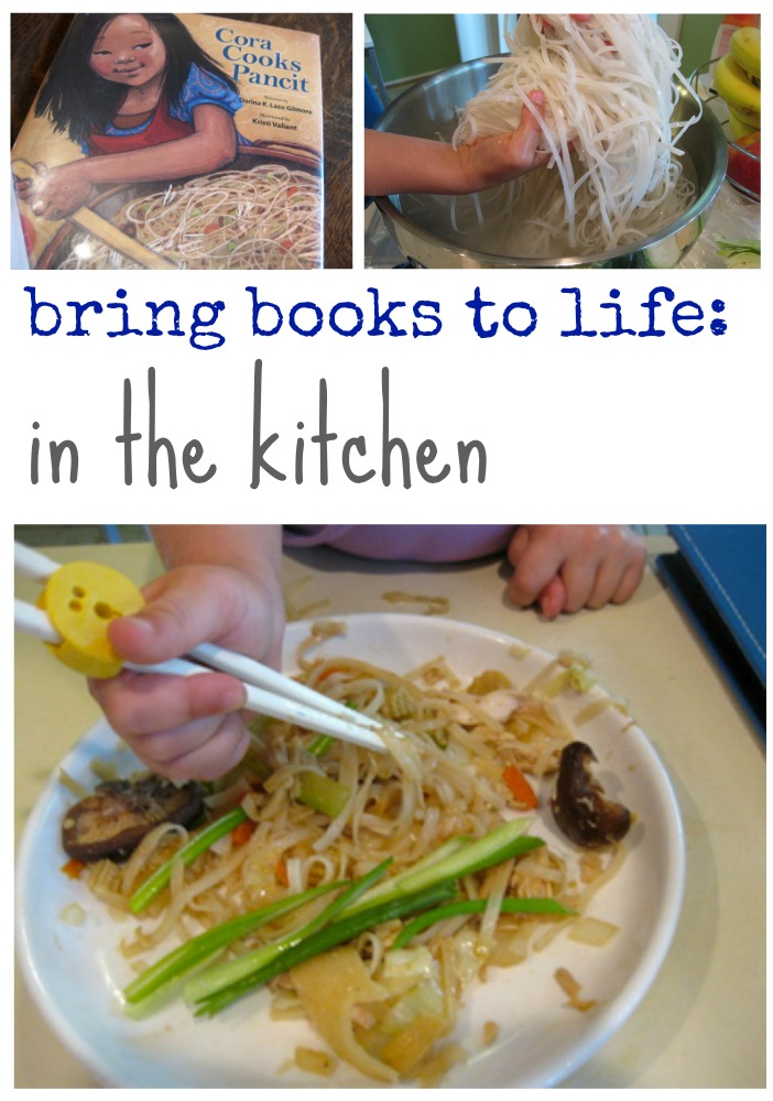 bring books to life in the kitchen cover