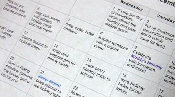 our 2010 advent activity calendar!