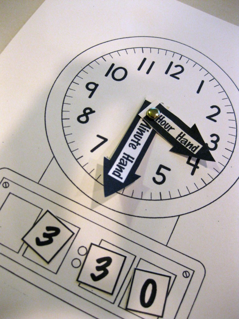 Childrens clock learn time