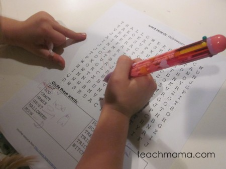 word searches for early literacy learning | teachmama.com