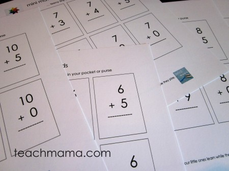 image relating to Printable Addition Flash Cards 0-20 known as understanding math info with mini flash playing cards - educate mama