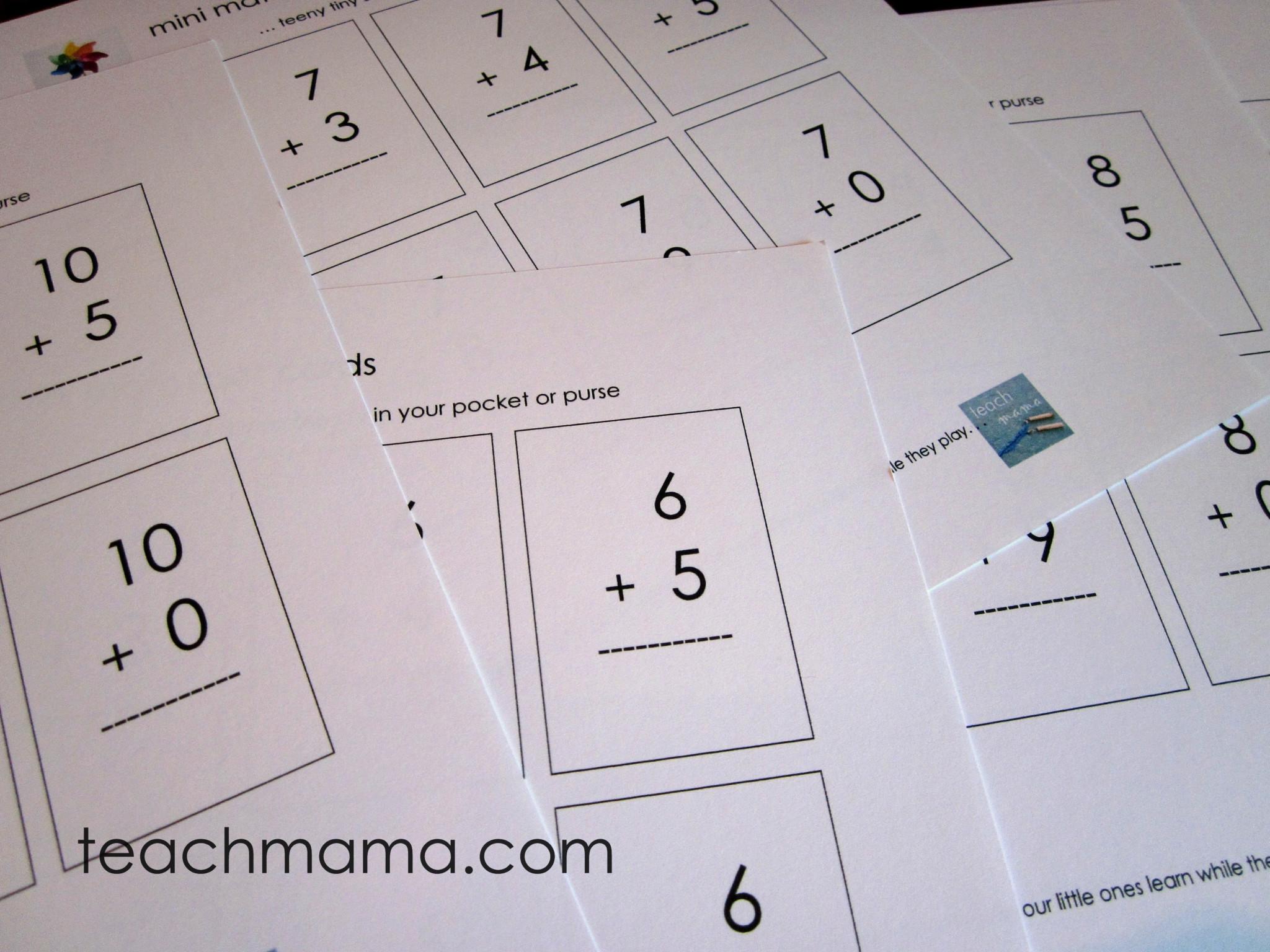 mastering math with mini math facts teach mama. Black Bedroom Furniture Sets. Home Design Ideas