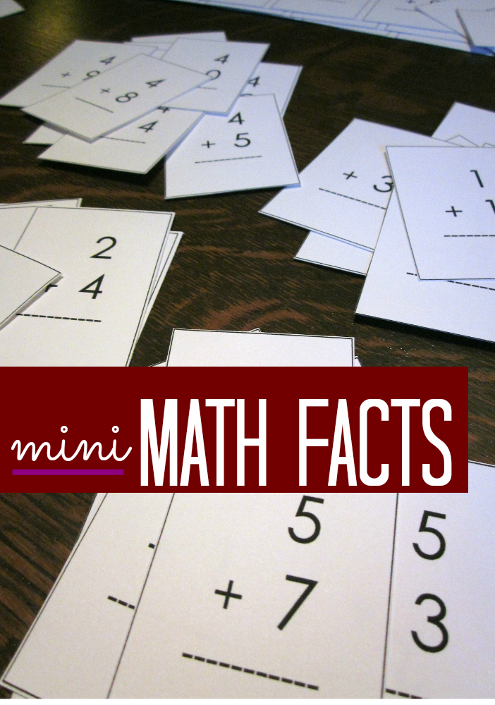 mastering math with mini math fact cards