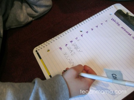 write around the room | teachmama.com