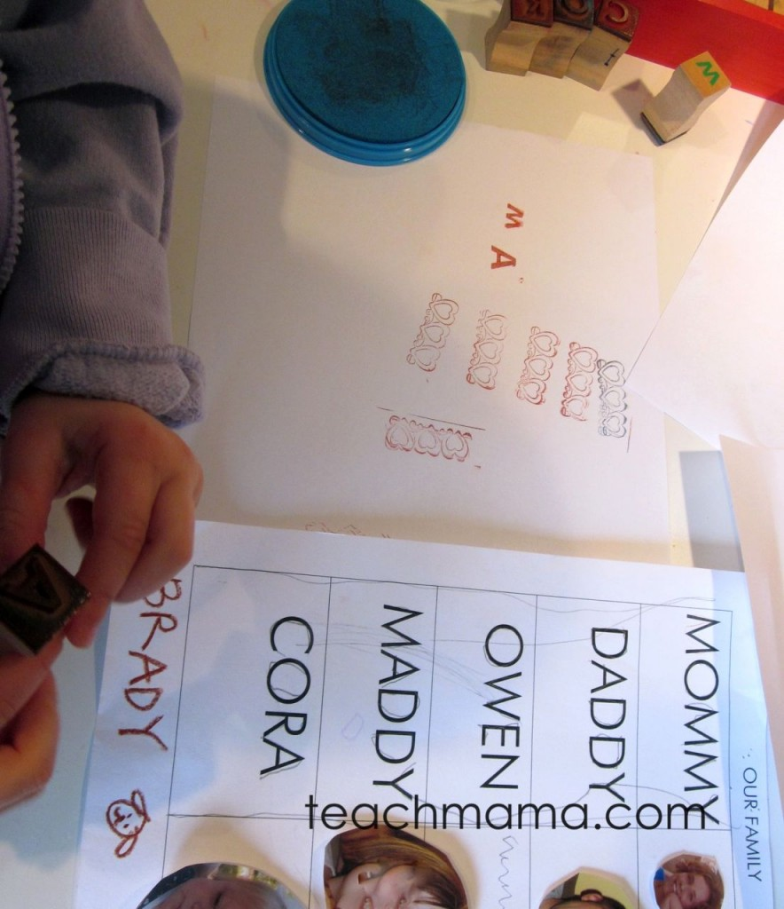 stamp to spell | early literacy | letter recognition | teachmama.com