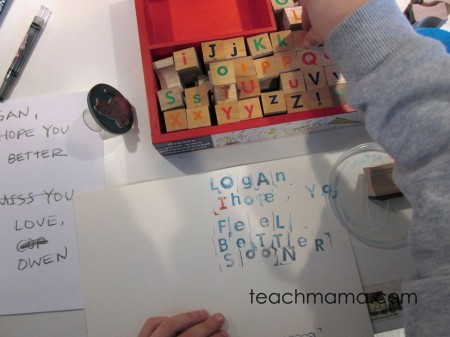 stamp to spell | teachmama.com