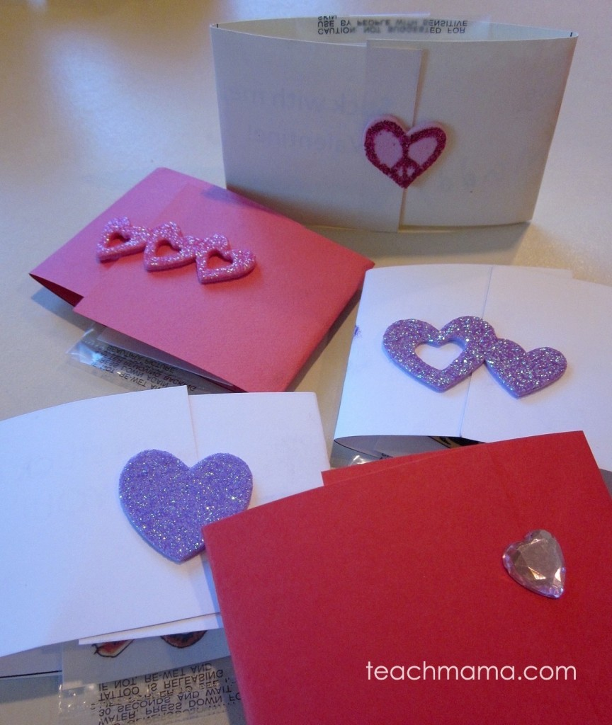 Easy Super Cute Homemade Valentines With Tattoos