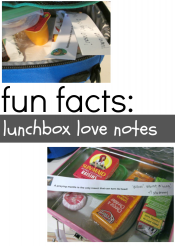 fun fact lunchbox notes!