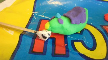 quick trick: fast-finger challenges with play-doh