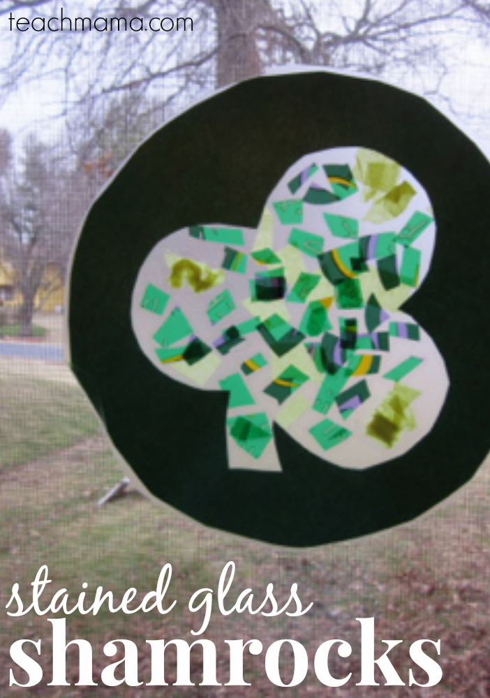 stained glass shamrocks st. patricks day teachmama.com