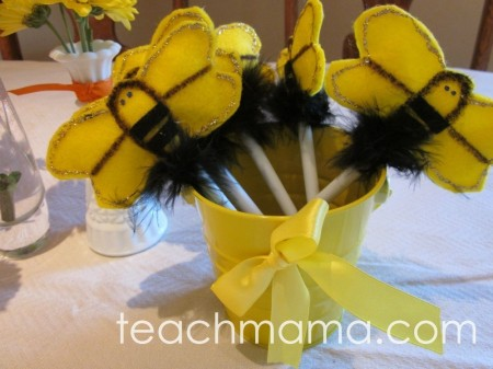 how to make bumblebee wands, pens, and buzzy birthday fun