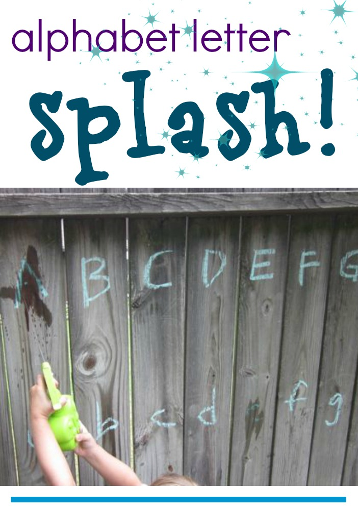 alphabet letter splash