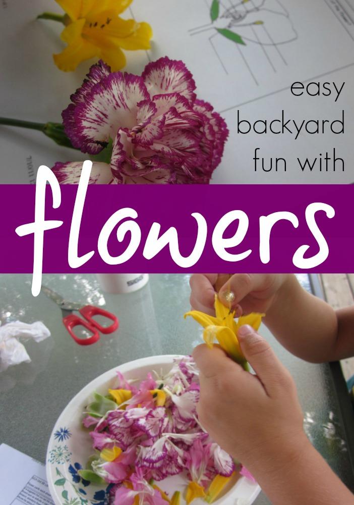 easy backyard fun with flowers