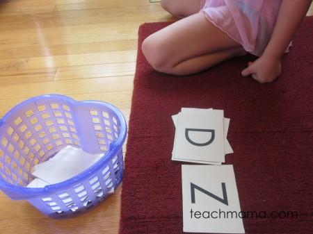 spelling word fun letters D Z