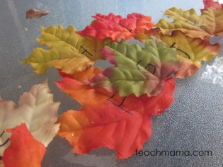leafy, outdoor alphabet letter hunt