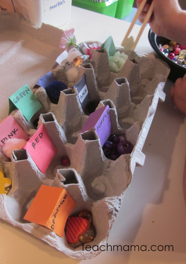 simple sorting egg carton colors | teachmama.com