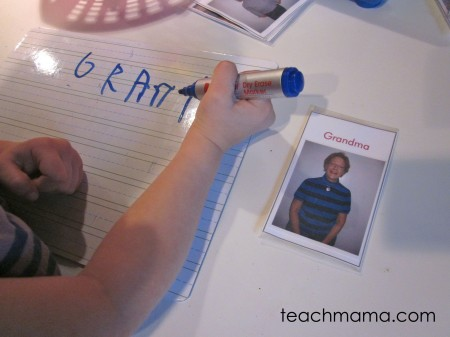 read and write family names | teach mama