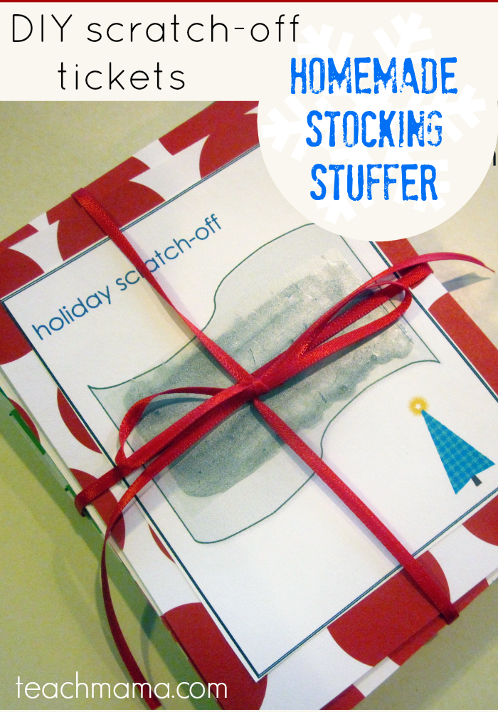 fun ideas for outdoor family pictures - homemade scratch off tickets fun stocking stuffers