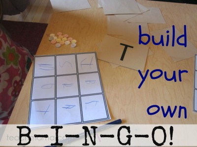 Build your own bingo games uppercase and lowercase letter match spiritdancerdesigns Image collections
