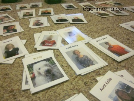family playing cards sheets