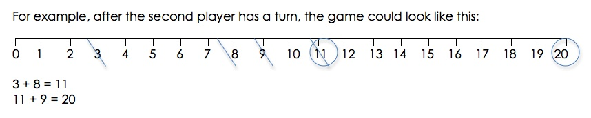 easy math game strike it out