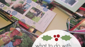 what to do with holiday cards (hint: don't throw them away!)