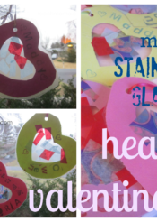 sweet kids' valentines: mini stained glass hearts