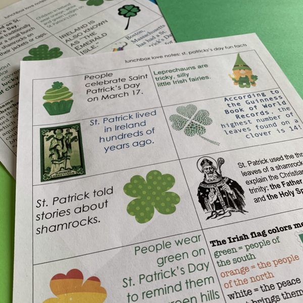 st. patrick's day fun fact notes