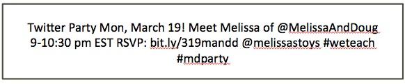 melissa and doug tweet