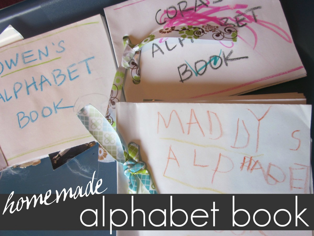 homemade alphabet book | early literacy | teachmama.com