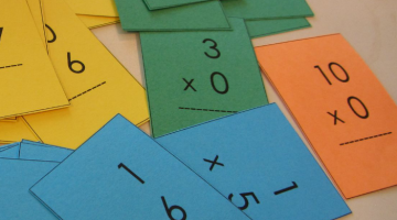 mastering multiplication tables (with mini flash cards)