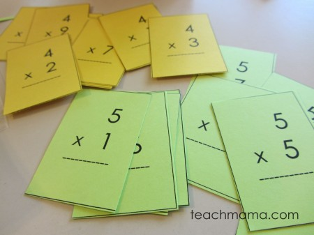 photograph regarding Printable Flash Cards Multiplication named learning multiplication tables (with mini flash playing cards