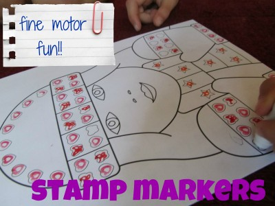 fine motor FUN with stamp markers