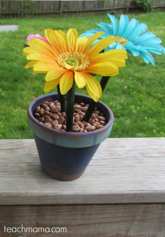 how to make flower pot pens teachmama.com 2