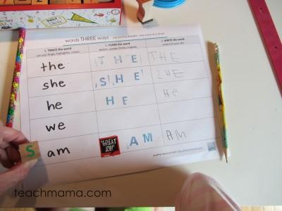 learning sight words for kindergarten